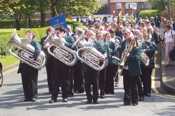 Middleton Band, Whit Sunday Parade, Chadderton, 2002