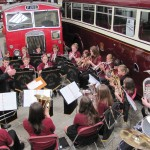 Middleton Youth Band at Bury Transport Museum